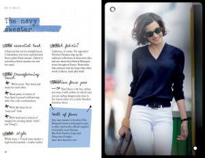 Parisian+Chic+navy+sweater_ines+de+la+fressange